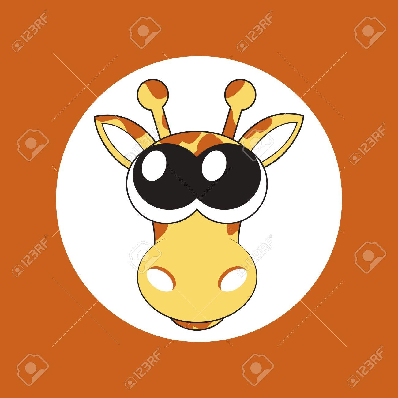 illustration of cartoon giraffe with big cute eyes Stock Vector - 12232996