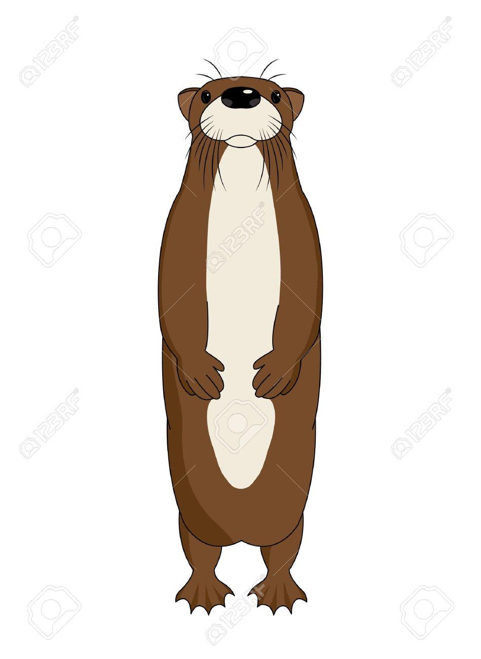 Funny cartoon otter, vector illustration Stock Vector - 13484865