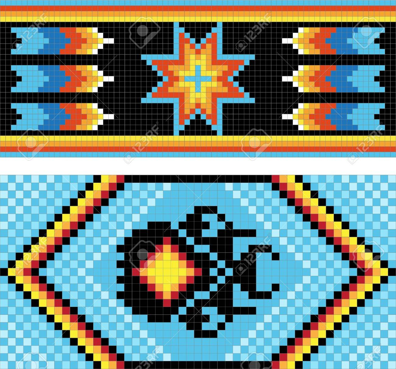 traditional native american indian pattern royalty free cliparts