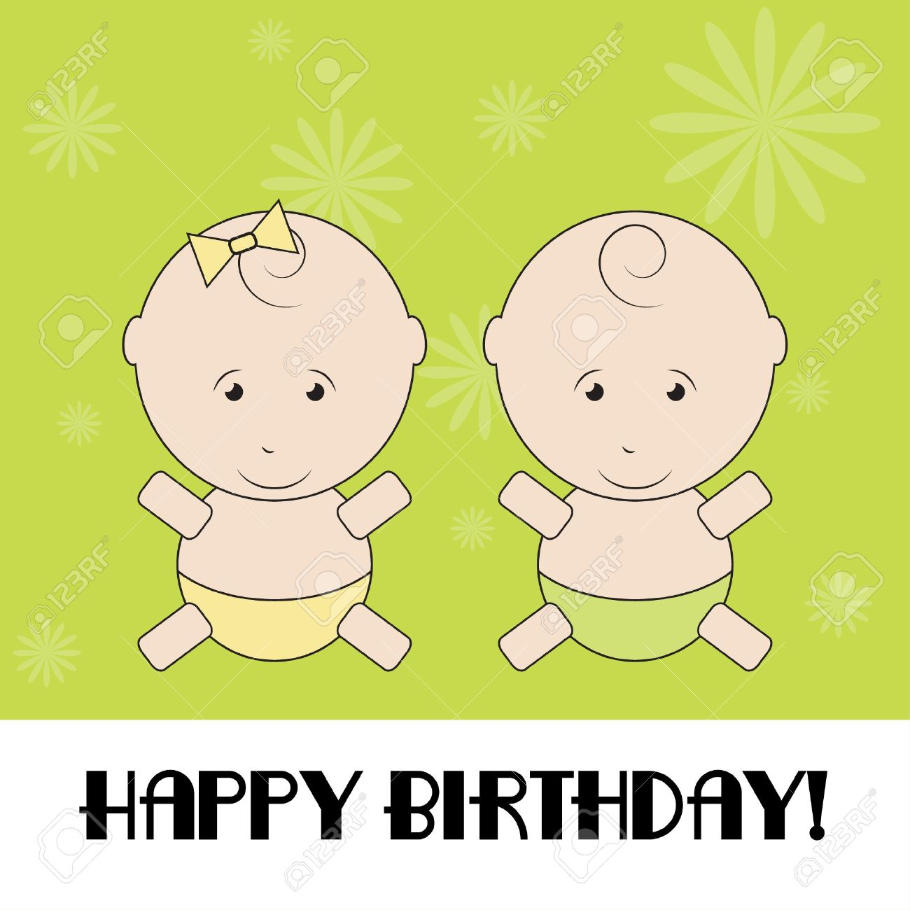 Happy birthday funny greeting card Stock Vector - 13719525