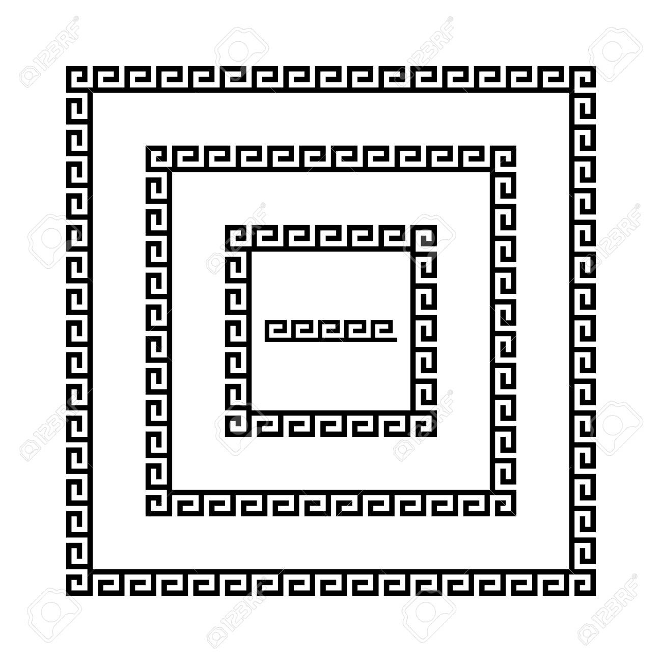 Set of meander borders ancient seamless square greek key frames ancient seamless square greek key frames greek national antique meandros jeuxipadfo Choice Image