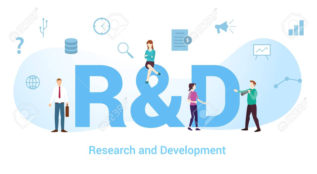 R&d Research And Development Concept With Big Word Or Text And ...