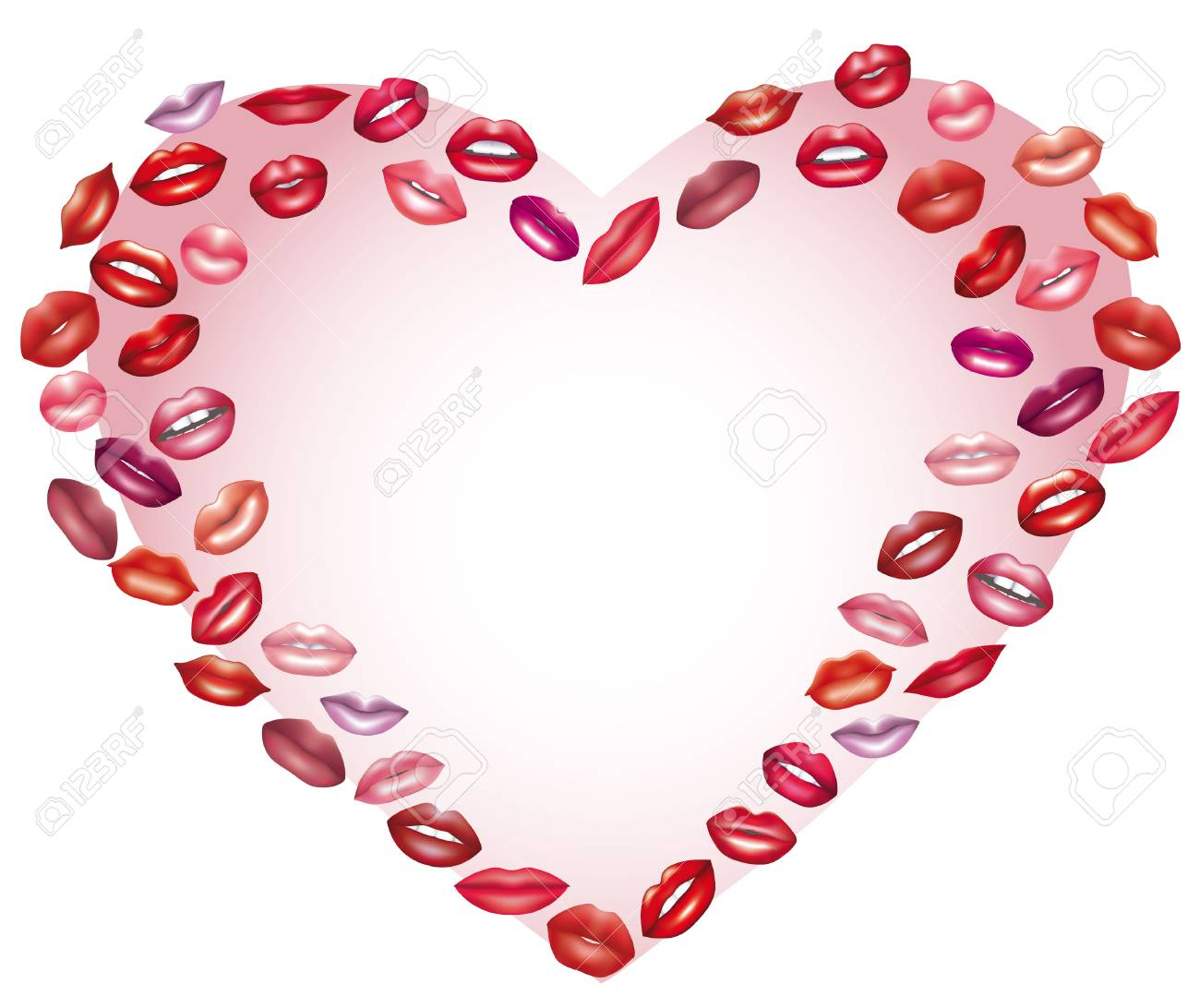 Coeur De Bisous Element De Design Le Jour Des Amoureux Clip Art