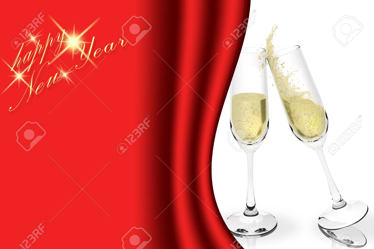 happy new year brindisi with sparkling wine to celebrate the new year space for