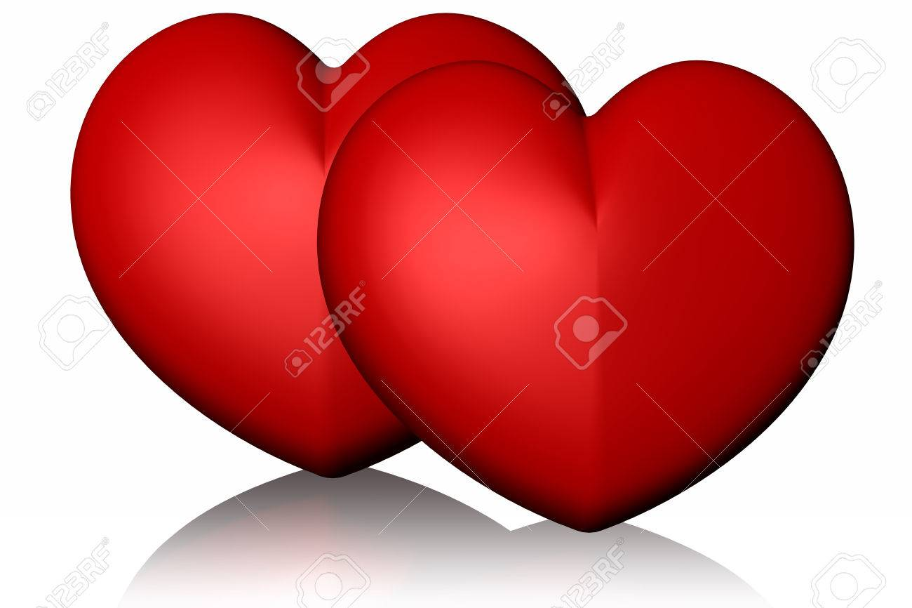 Valentine S Day Red Heart Meaning I Love You Stock Photo Picture