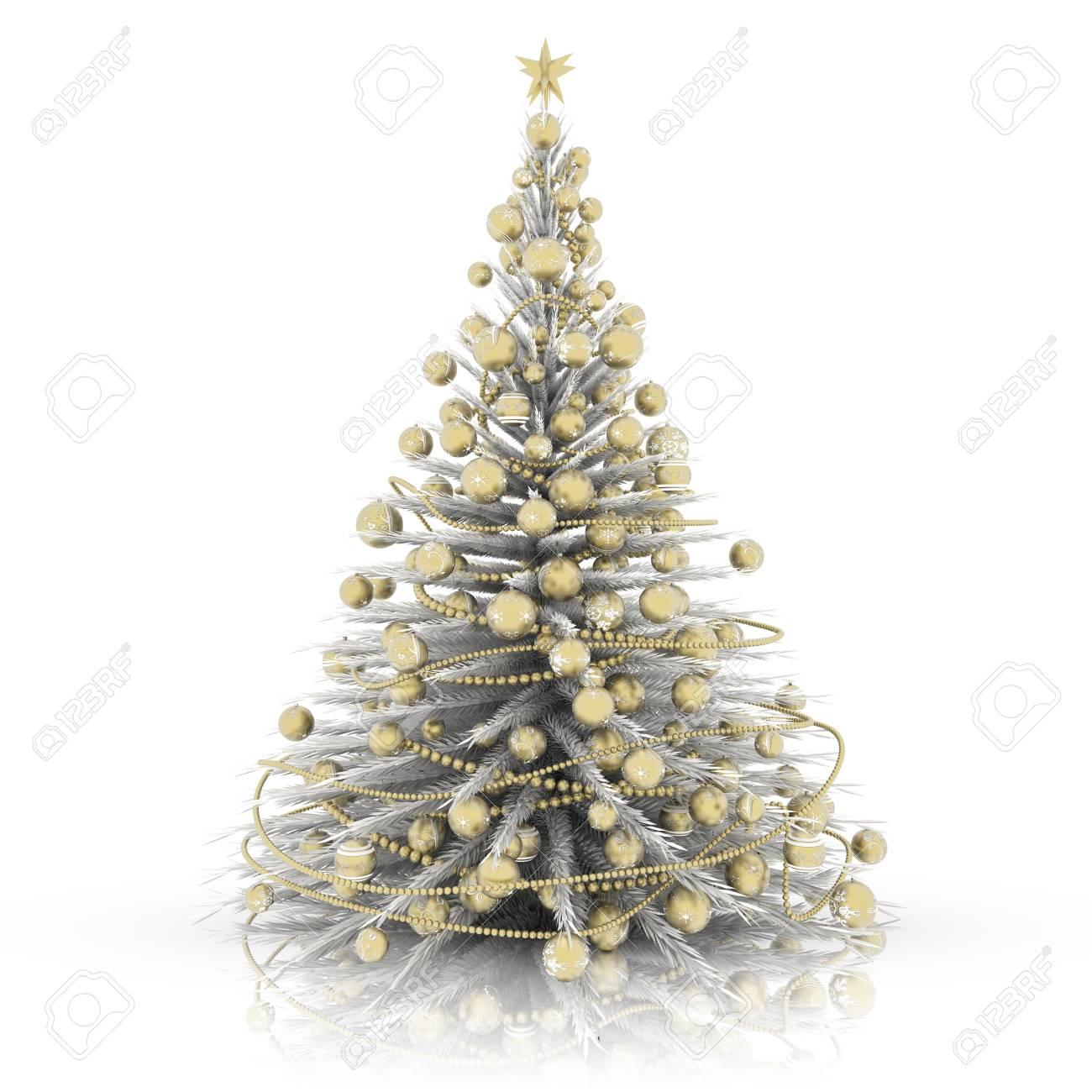 Foto Alberi Di Natale Bianchi decorazione natalizia. albero di natale bianco con decorazioni..