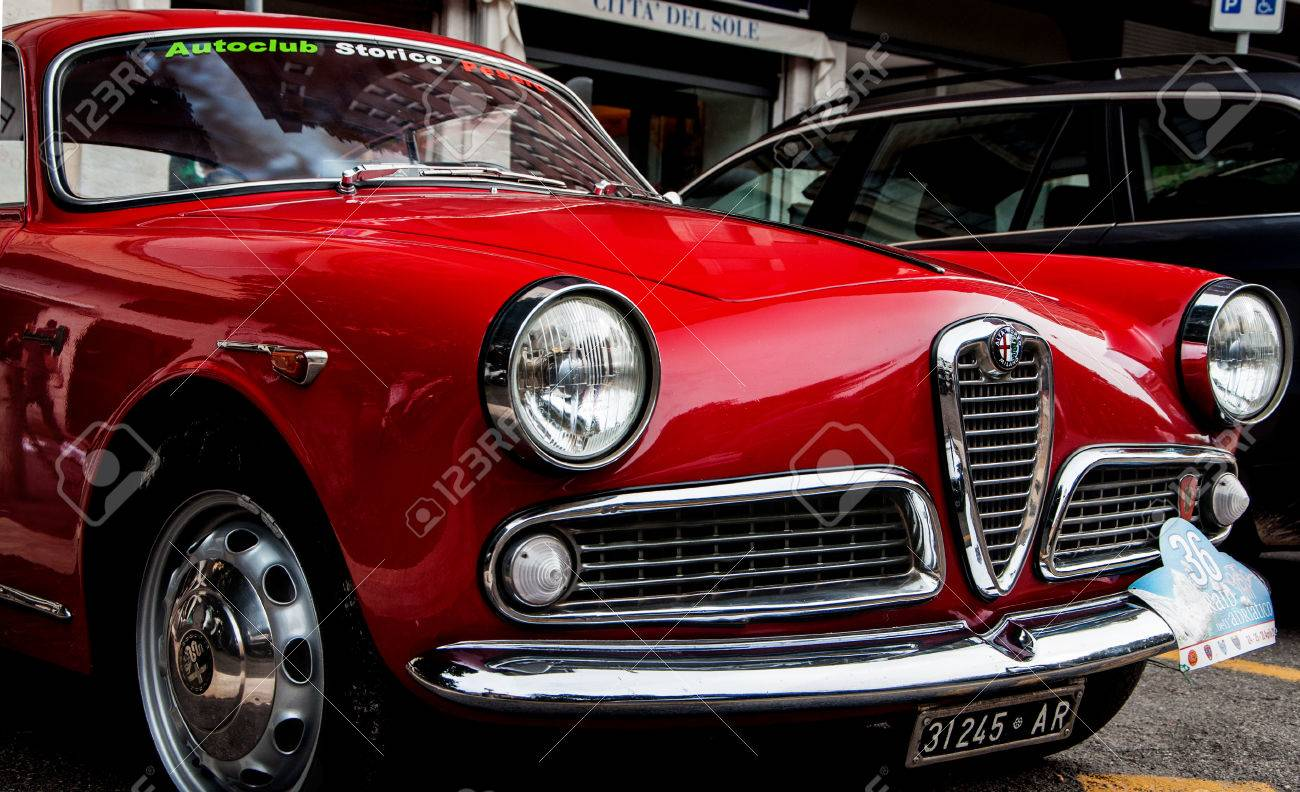 alfa romeo juliet spint 50 years stock photo, picture and royalty