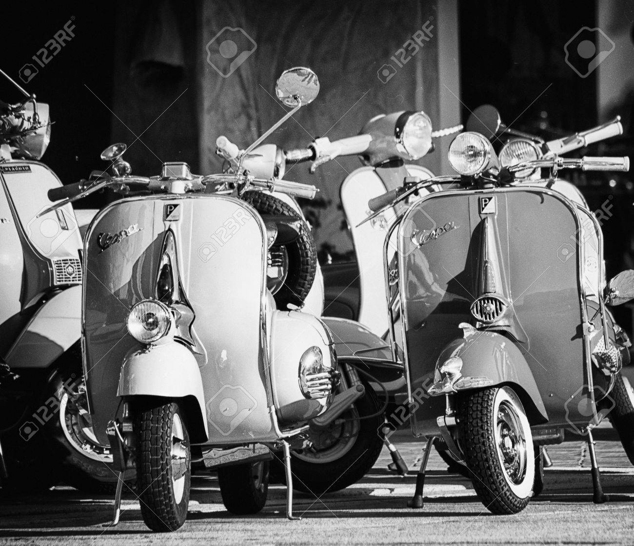 Vintage Vespa Scooter, iconic symbol of Italy, manufactured by