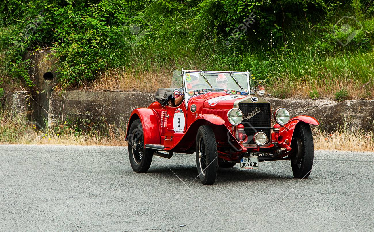 Thousand Miles In 2015 Italy History Vintage Car Back Stock Photo ...