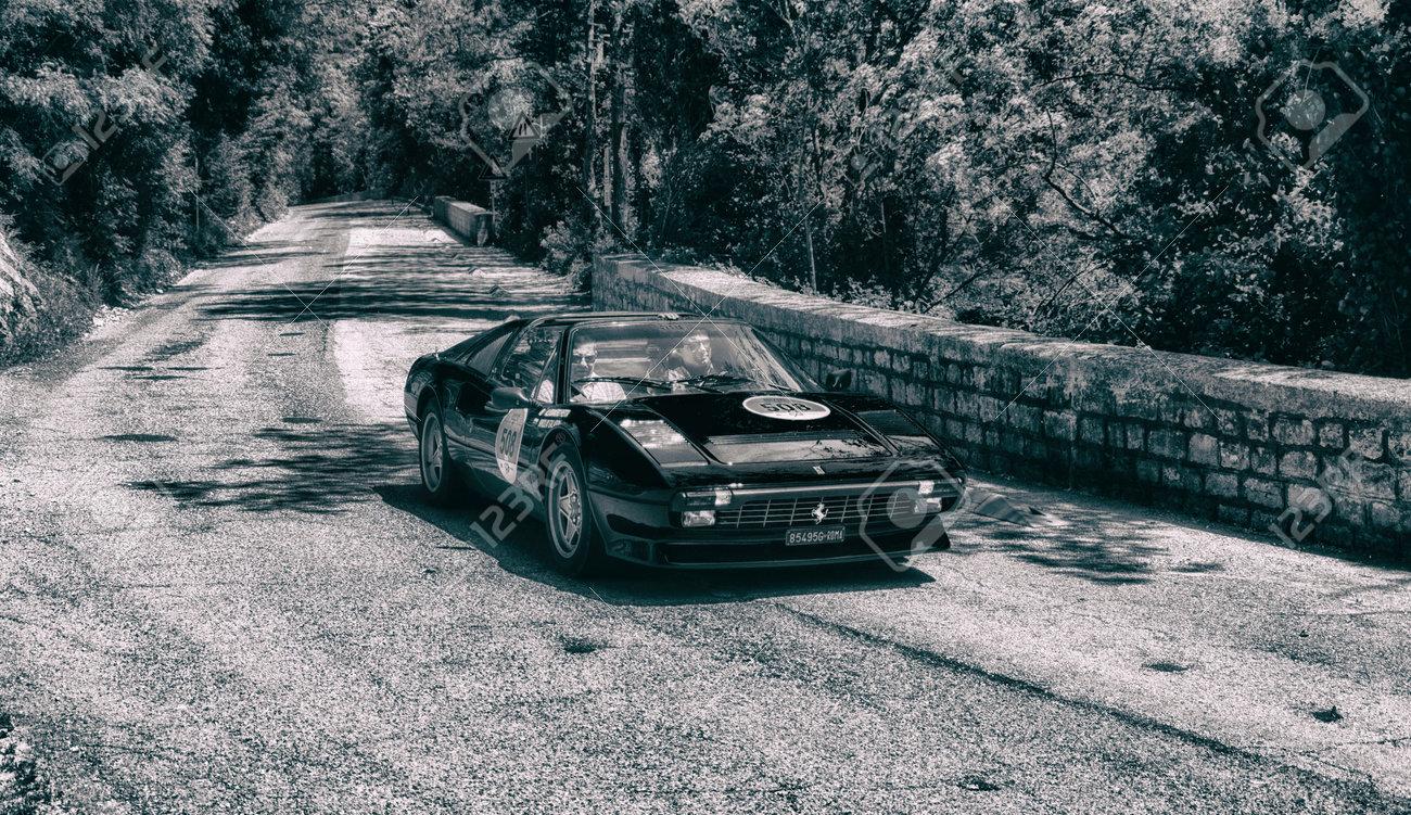 GOLA DEL FURLO, ITALY - FERRARI 308 GTS 1984 On An Old Racing ...