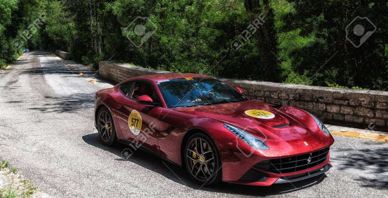 Gola Del Furlo Italy Ferrari F12 Berlinetta 2015 On An Old