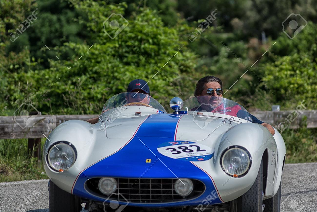 PESARO COLLE SAN BARTOLO, ITALY , MAY 17 , 2018 FERRARI 750..