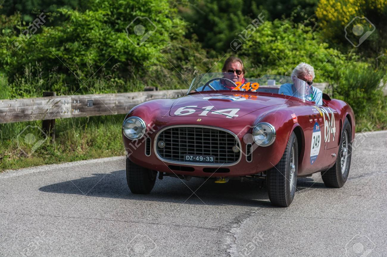 Pesaro Colle San Bartolo Italy May 17 2018 Ferrari 340 Stock Photo Picture And Royalty Free Image Image 105565915