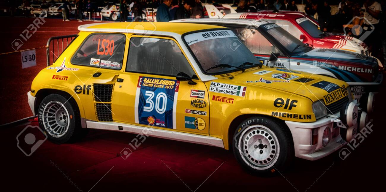Renault 5 Gt Turbo 1982 In Old Racing Car Rally The Legend 2017 Stock Photo Picture And Royalty Free Image Image 131041432