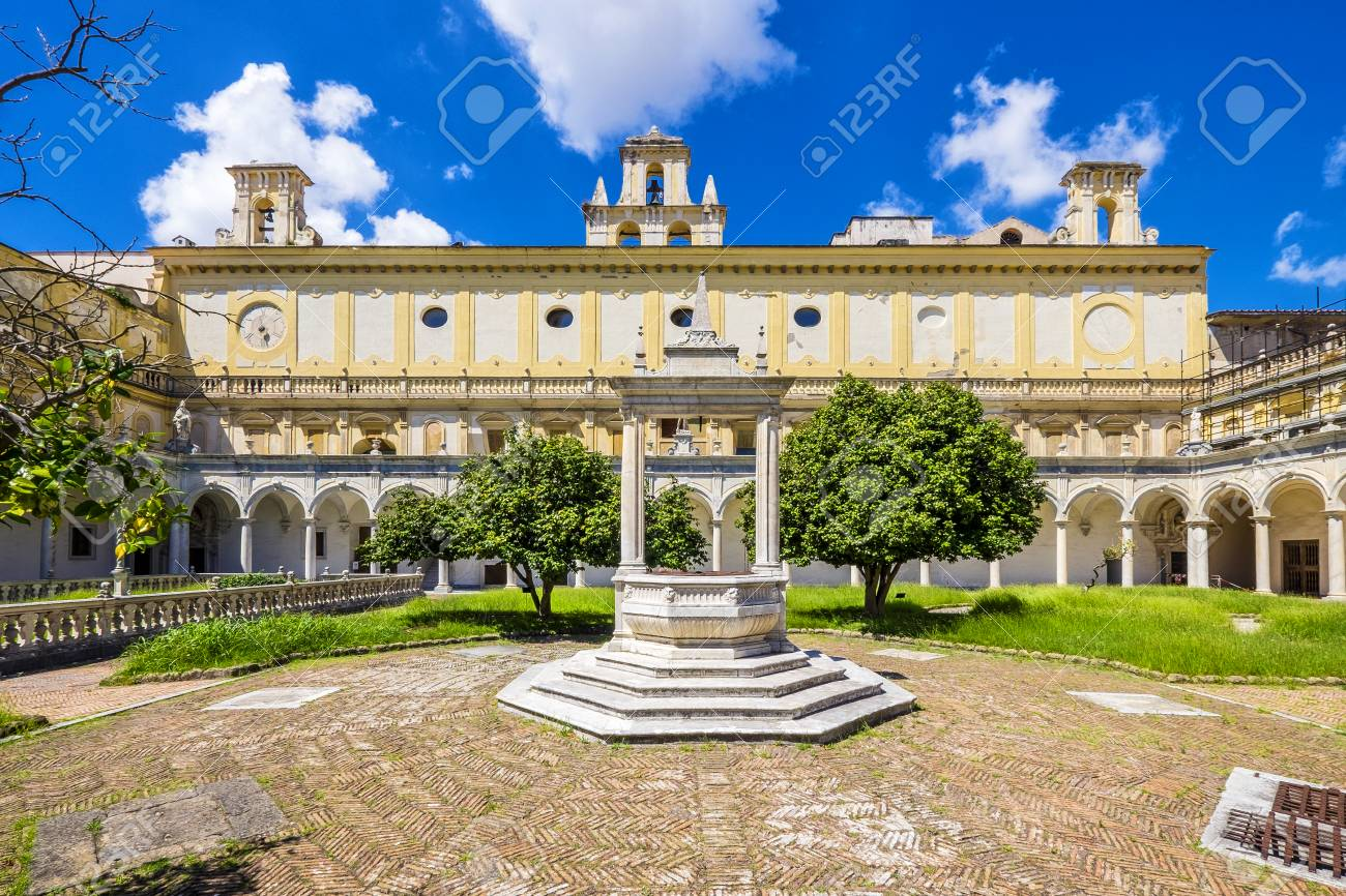 Beautiful Cloister And Gardens Of San Martino Certosa Di San Stock Photo Picture And Royalty Free Image Image 118023852
