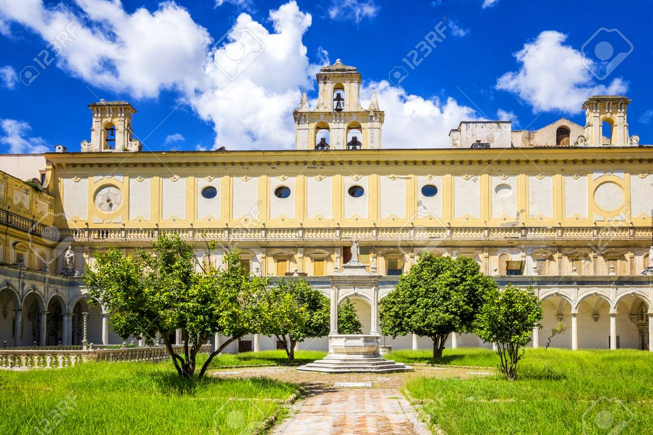 Beautiful Cloister And Gardens Of San Martino Certosa Di San Stock Photo Picture And Royalty Free Image Image 118023854