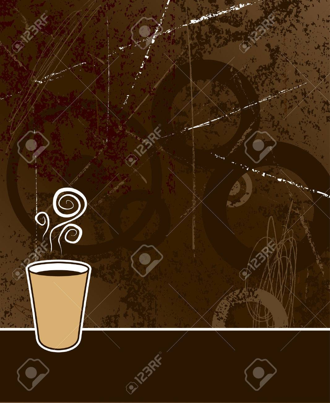 black coffee to go on coffee colored grunge background Stock Vector - 2033843