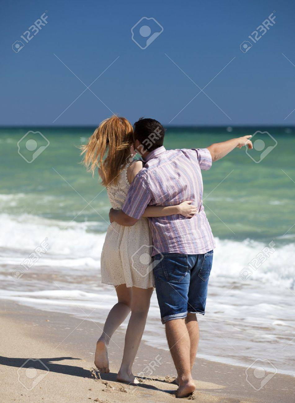 Couple at the beach. Stock Photo - 15071731