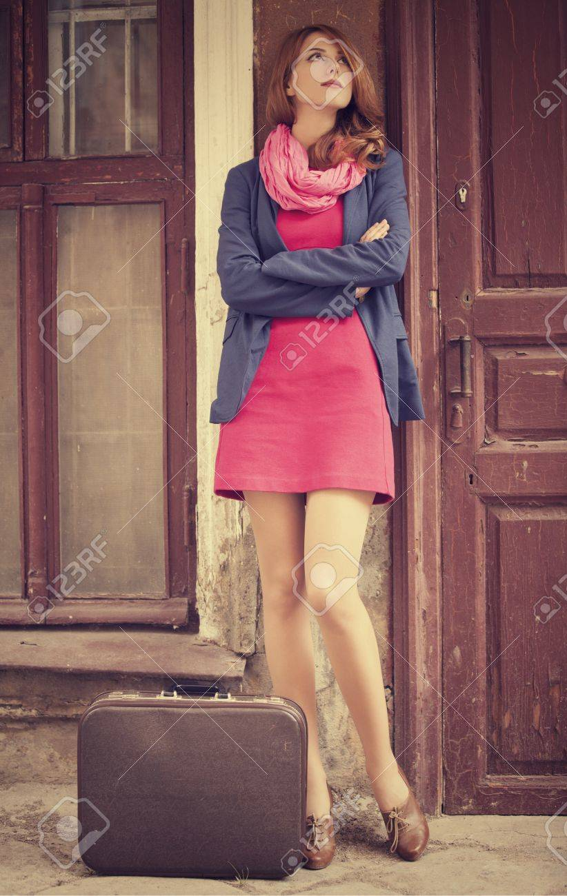 portrait of a beautiful girl on the street in vintage style Stock Photo - 18878653
