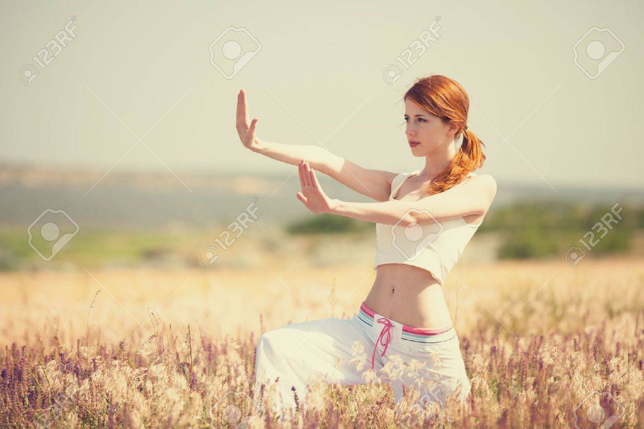 woman doing morning sports exercises Stock Photo - 19915422