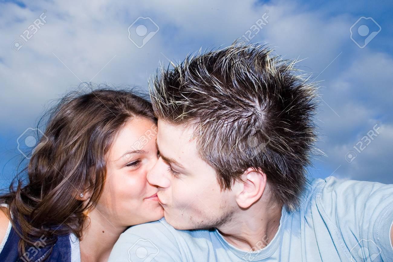 Couple Outside, having fun Stock Photo - 413016