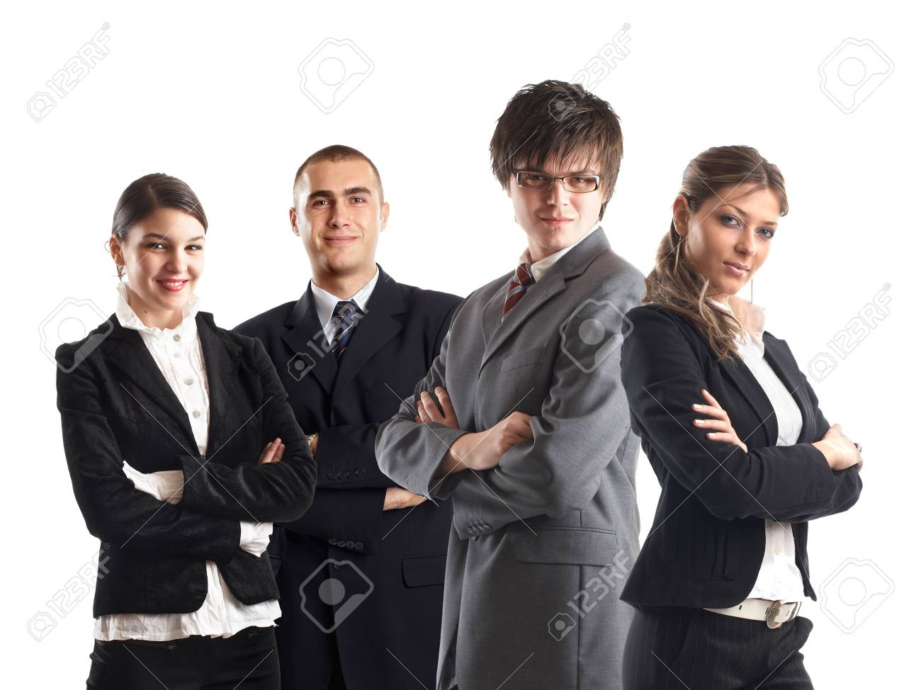 Young attractive business people - the elite business team Stock Photo - 1134067