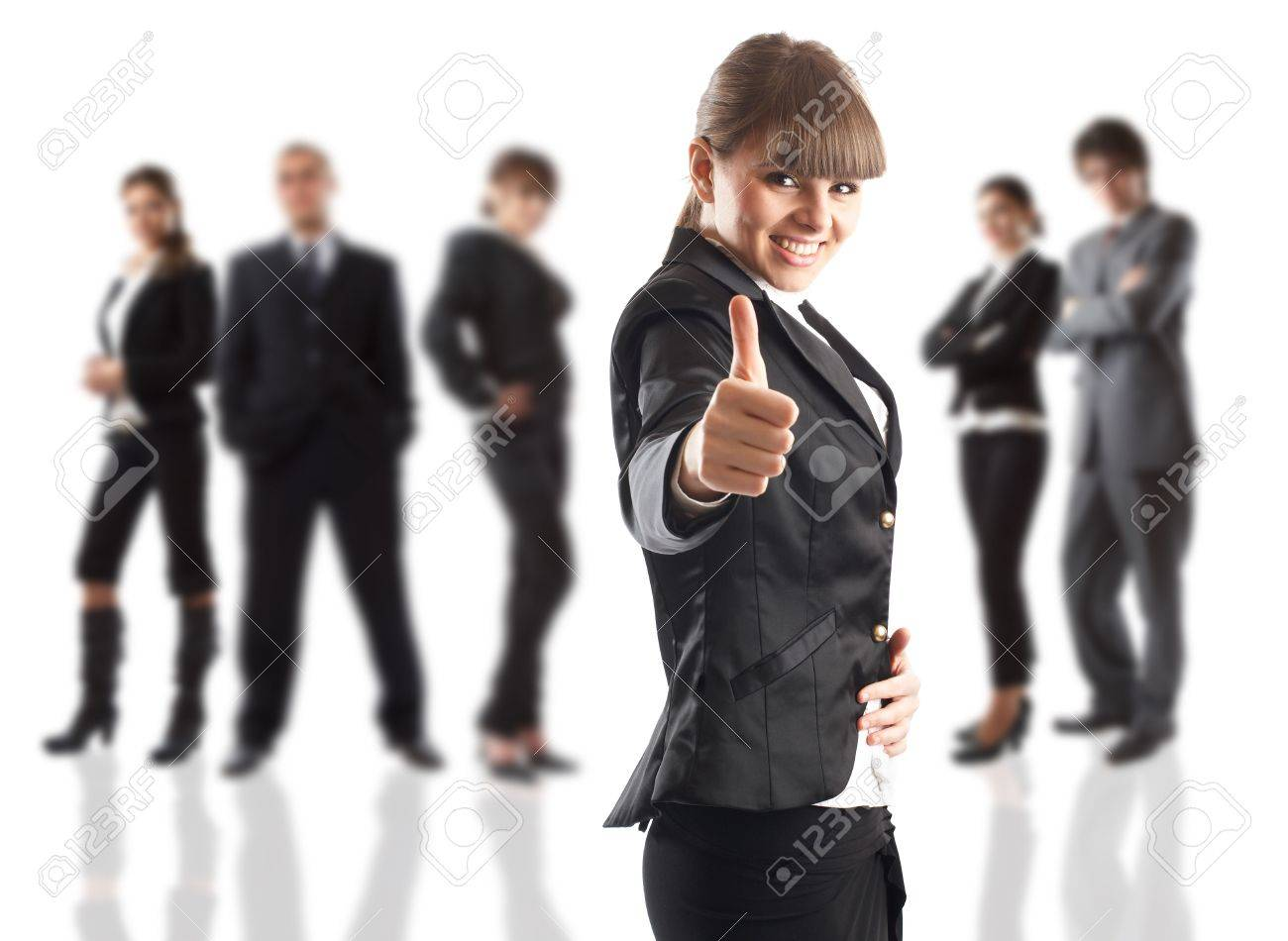 The Businesswoman - elite dream team - people in the background are out of focus Stock Photo - 1186357