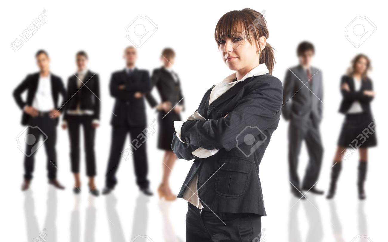 Young attractive business people - the elite business team Stock Photo - 1186358