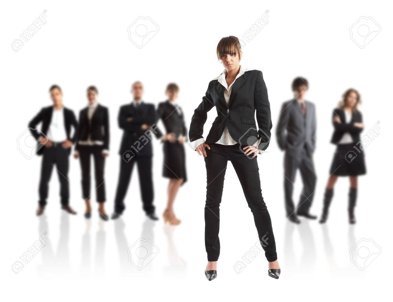 Young attractive business people - the elite business team Stock Photo - 1186340