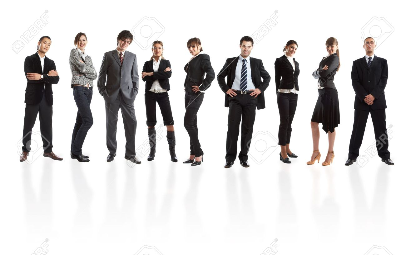 Young attractive business people - the elite business team Stock Photo - 1186303