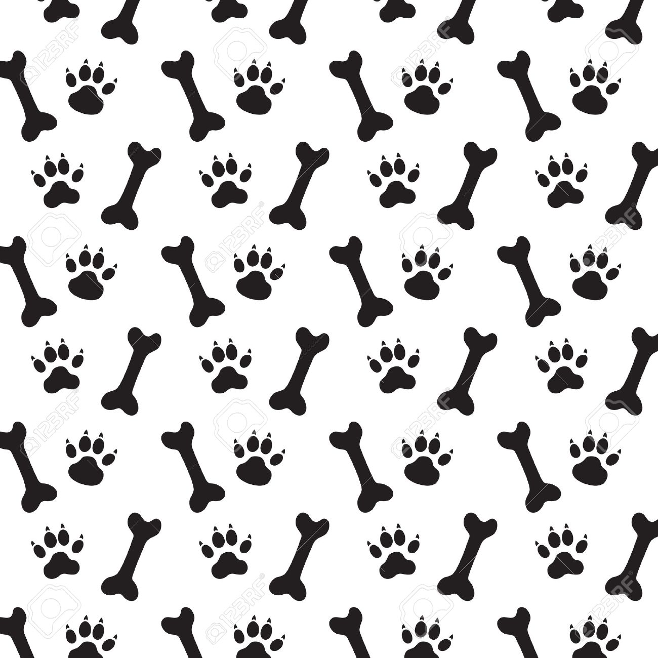 Traces of Dog and Bones  Dog Bone Pattern Background