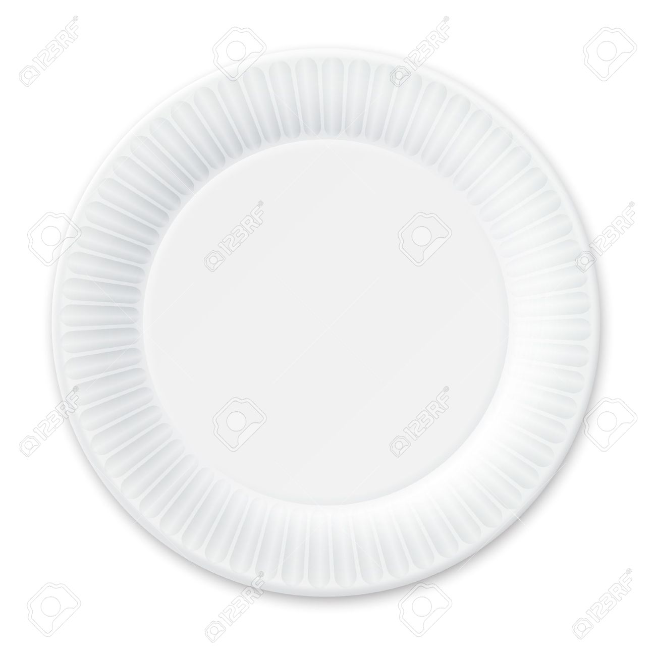 Disposable Paper Plate Isolated on White Stock Vector - 21685820  sc 1 st  123RF.com : disposable paper plates - pezcame.com