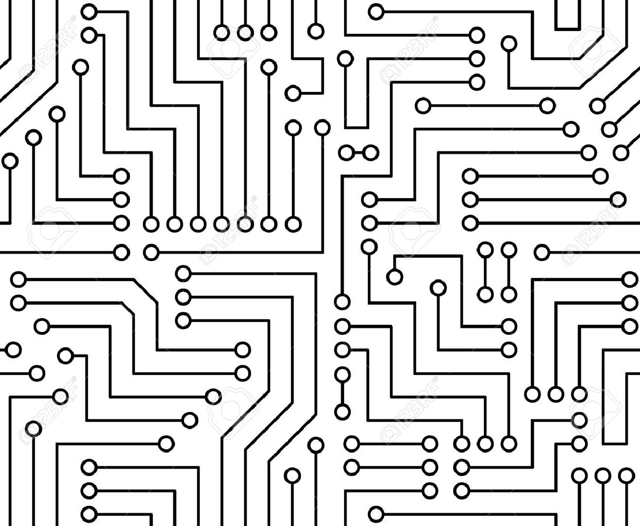 black and white printed circuit board seamless with pattern rh 123rf com circuit board clip art free circuit board clipart free