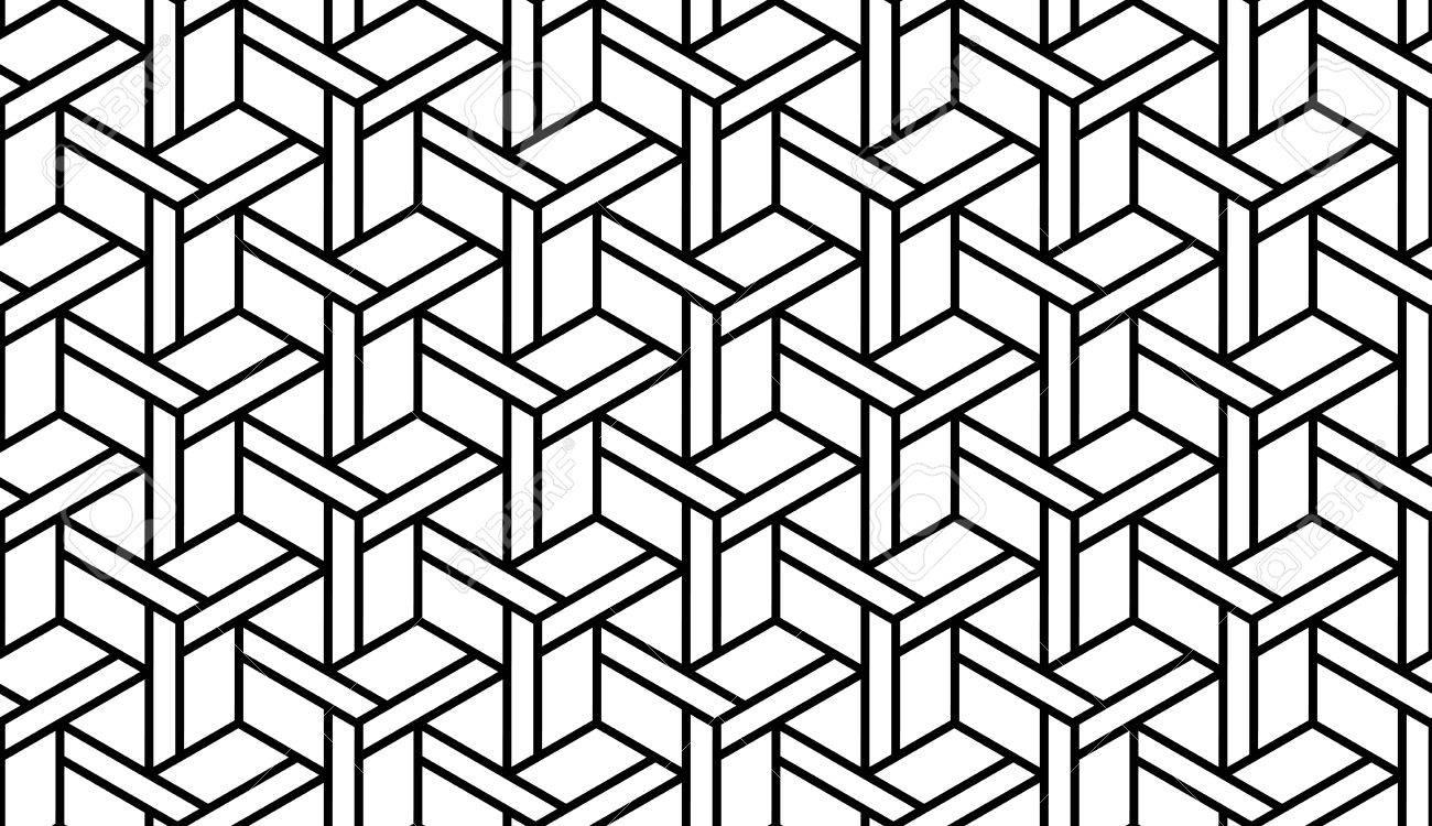 Schwarz Weiß Optik Geometrische Nahtlose Zum Drucken Auf Stoff Abstrakter Hintergrund Mit Muster In Der Farbfelder Bedienfeld Lizenzfrei Nutzbare Vektorgrafiken Clip Arts Illustrationen Image 35379999