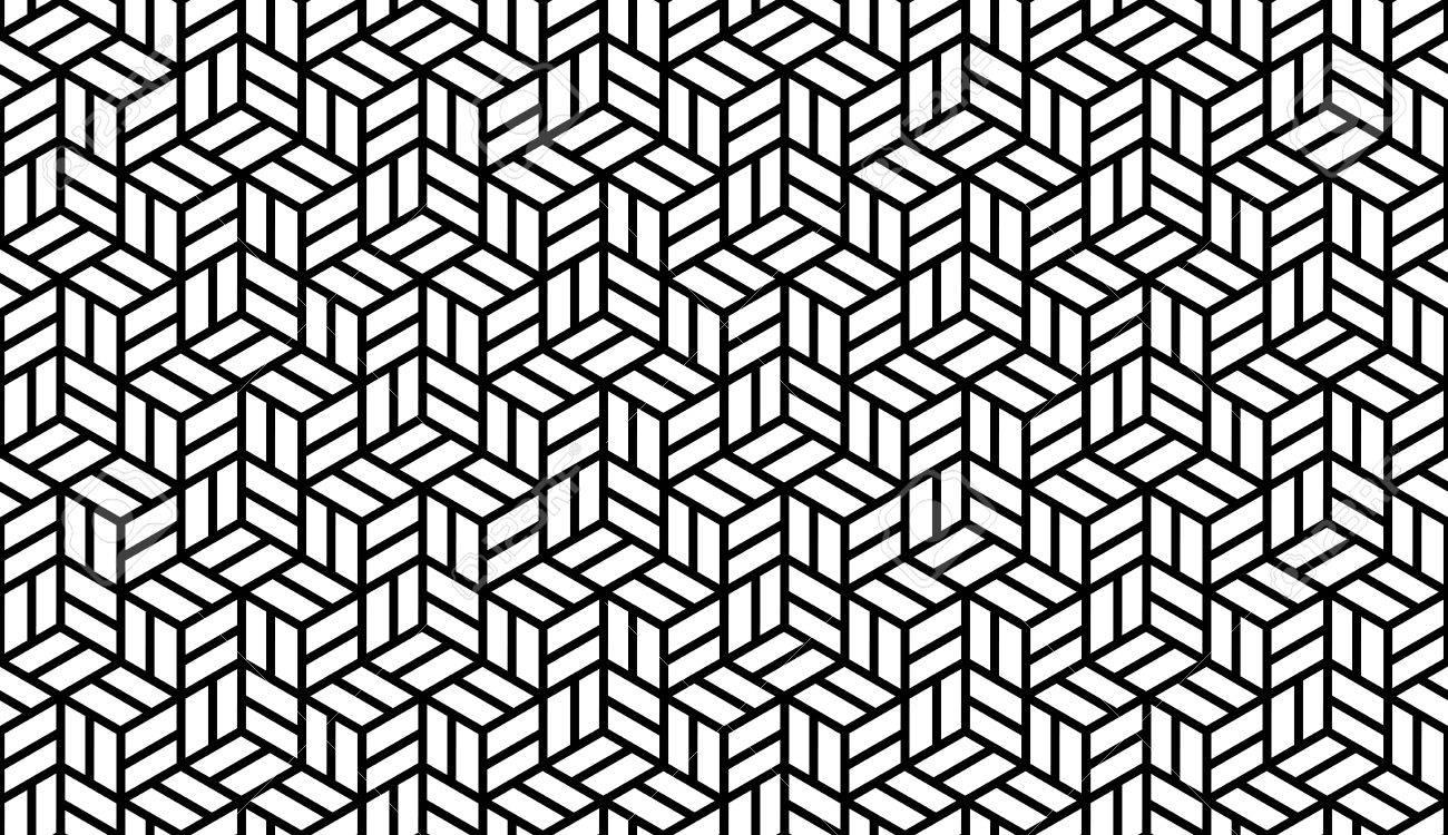 Schwarz Weiß Optik Geometrische Nahtlose Zum Drucken Auf Stoff Abstrakter Hintergrund Mit Muster In Der Farbfelder Bedienfeld Lizenzfrei Nutzbare Vektorgrafiken Clip Arts Illustrationen Image 35380066