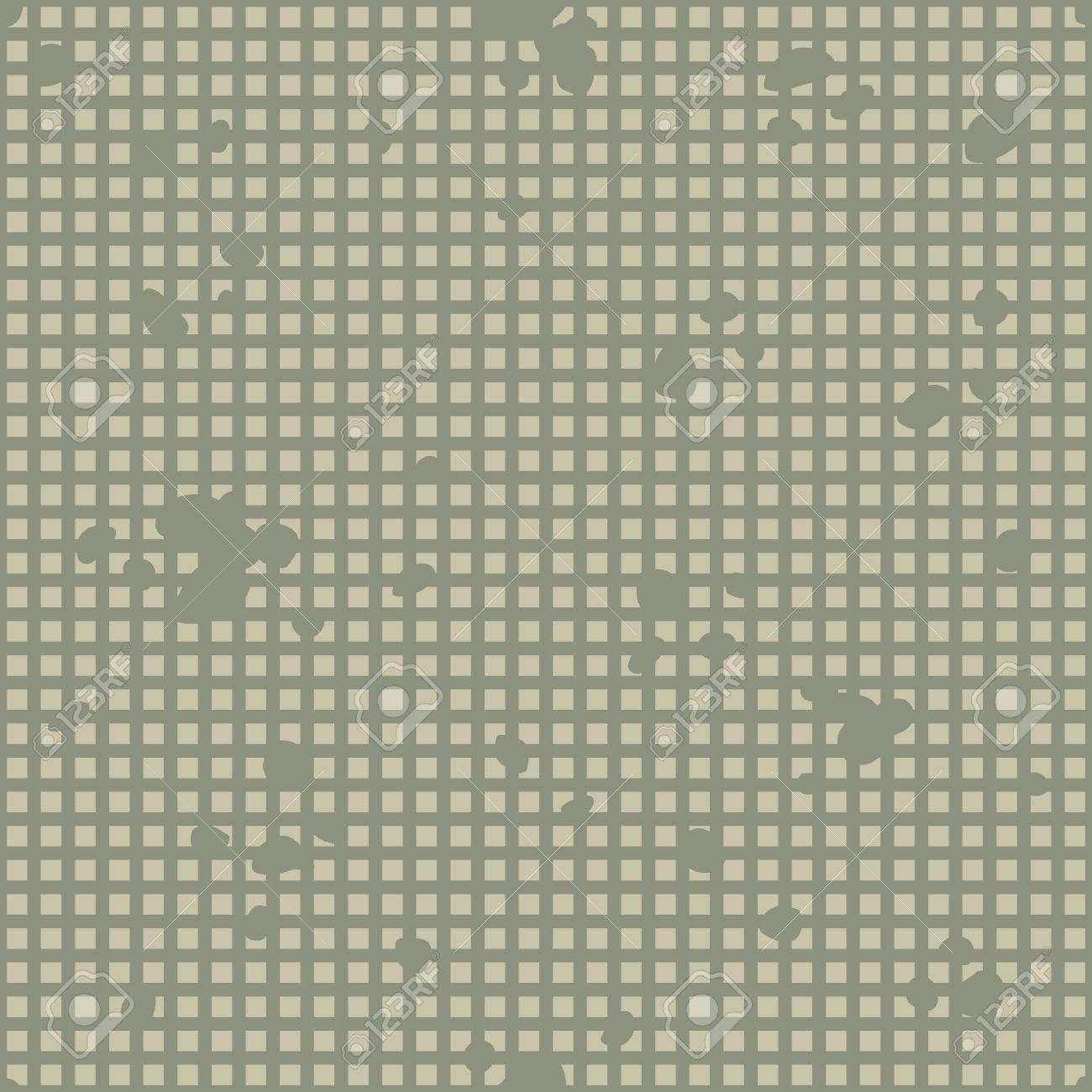 Military Camouflage Textile Seamless: USA, 1983, Night Desert - Vector Illustration with Pattern in Swatches Panel - 50592181