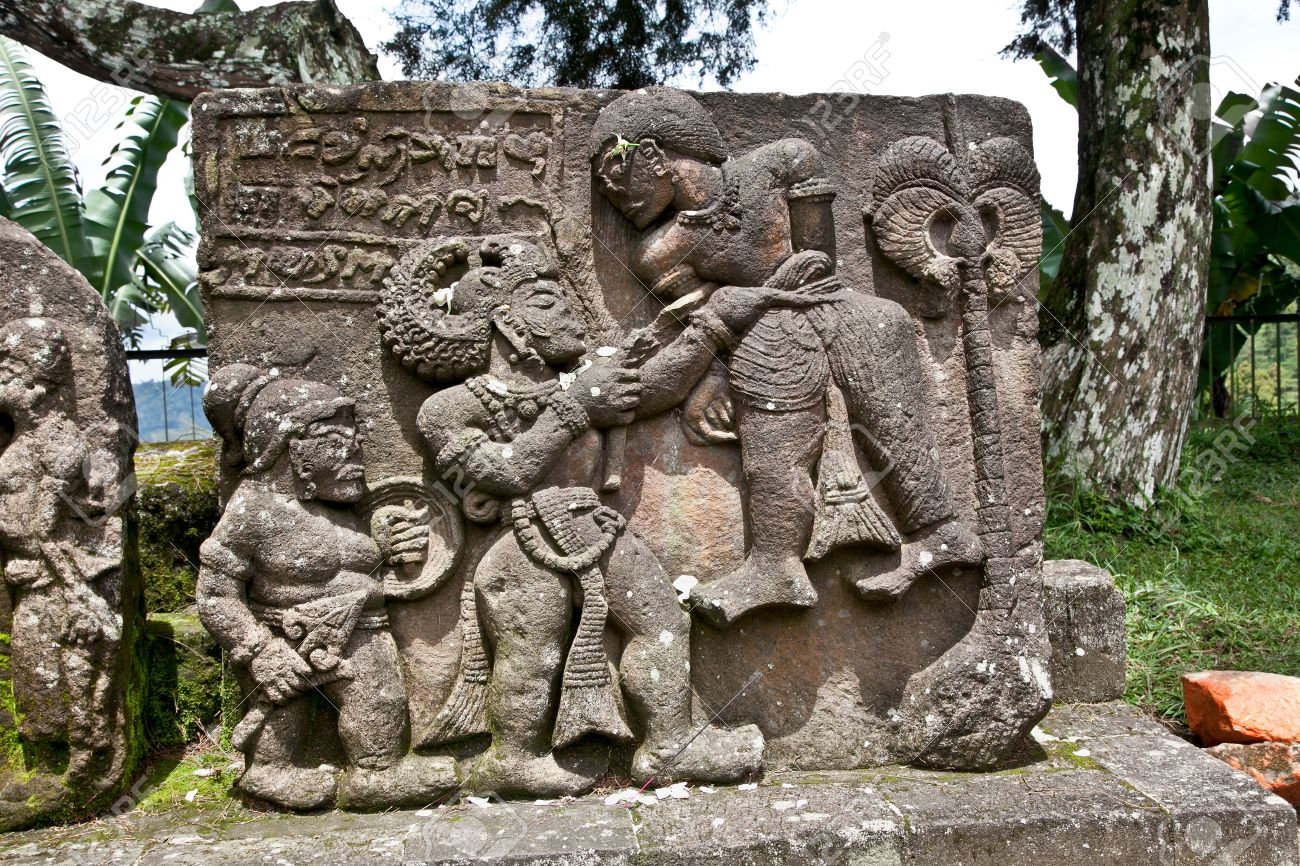 Stone Sculpture In Ancient Erotic Candi Sukuh Hindu Temple On