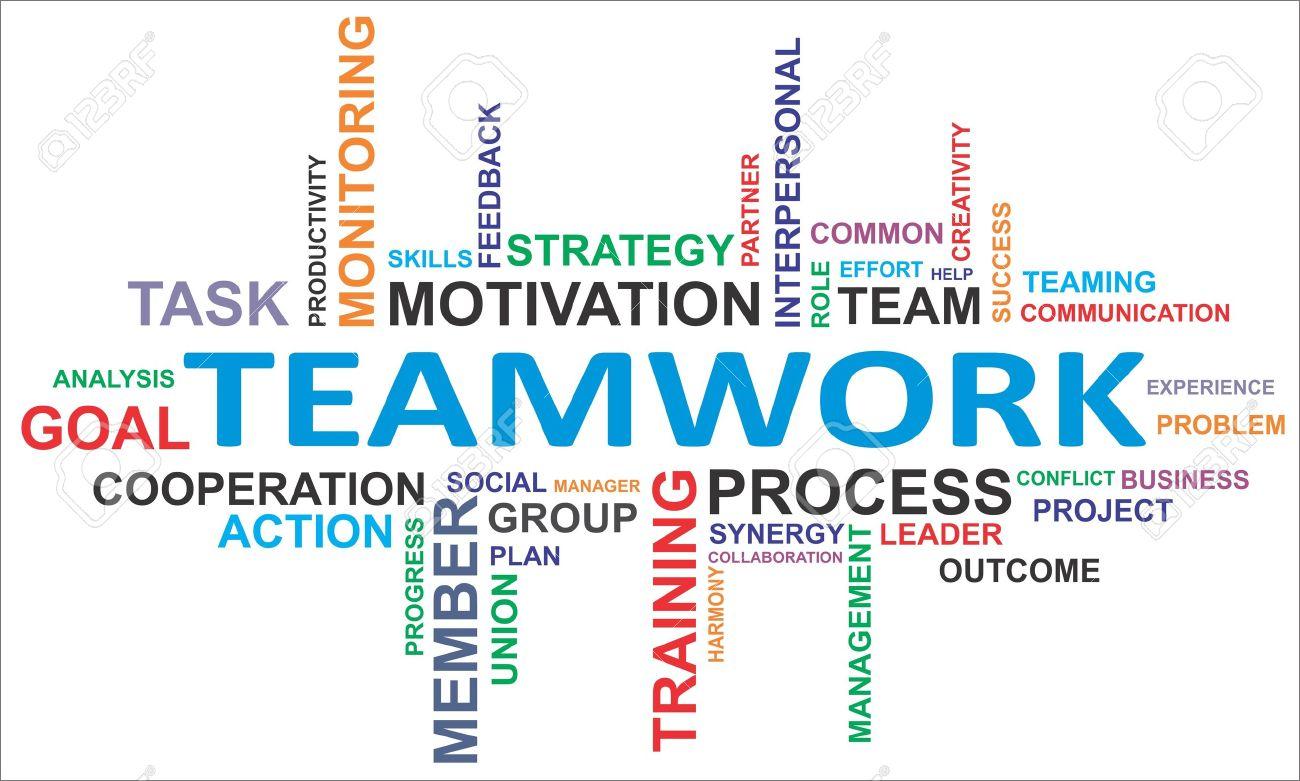 teamwork experience teamwork words cloud stock illustration ...