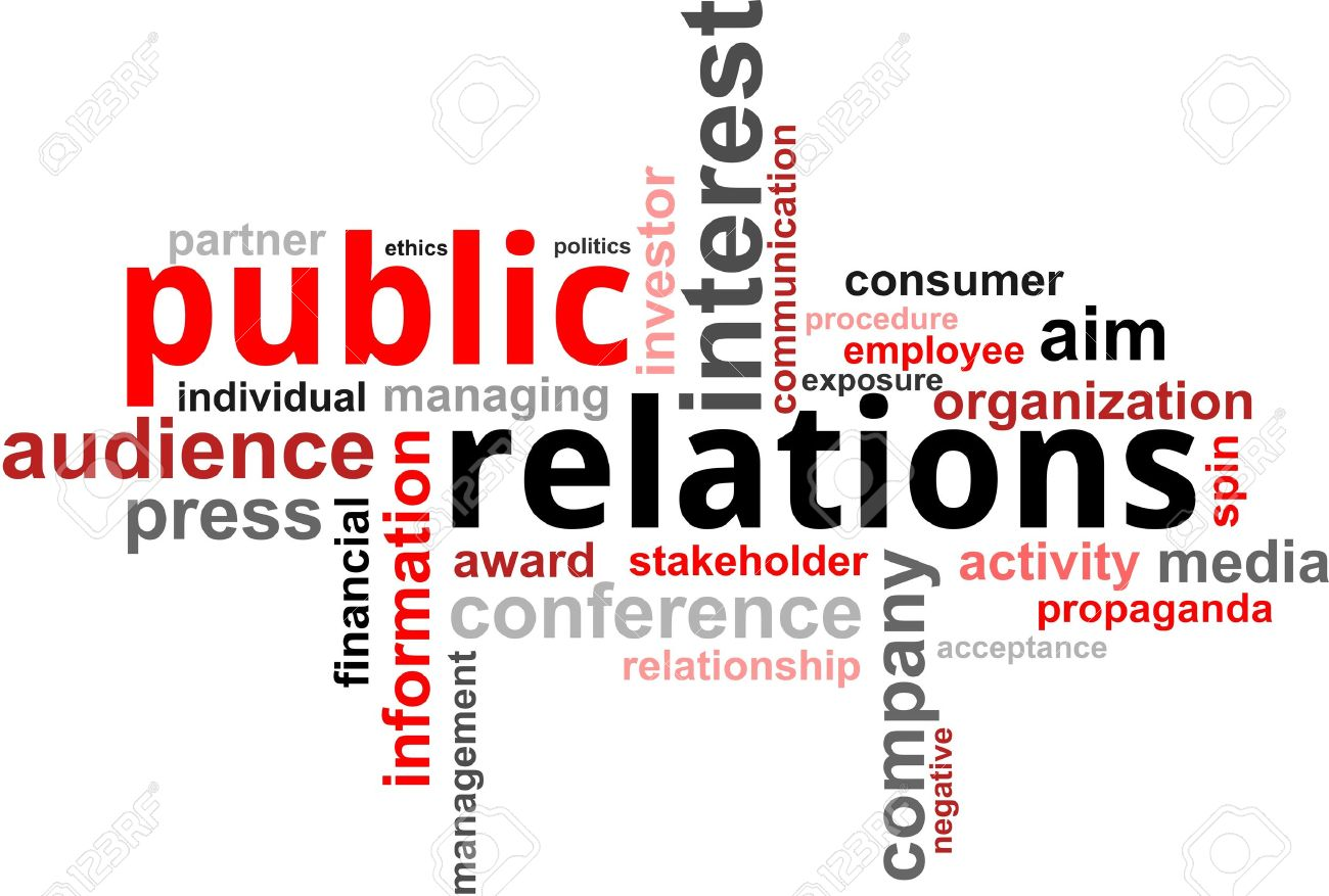 A word cloud of public relations related items Stock Vector - 17775657