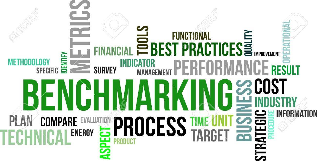 A word cloud of benchmarking related items Stock Vector - 18787070