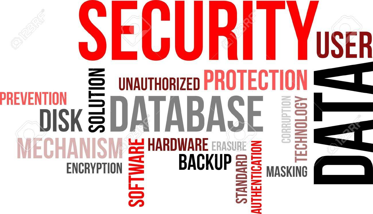 A word cloud of data security related items Stock Vector - 19666245