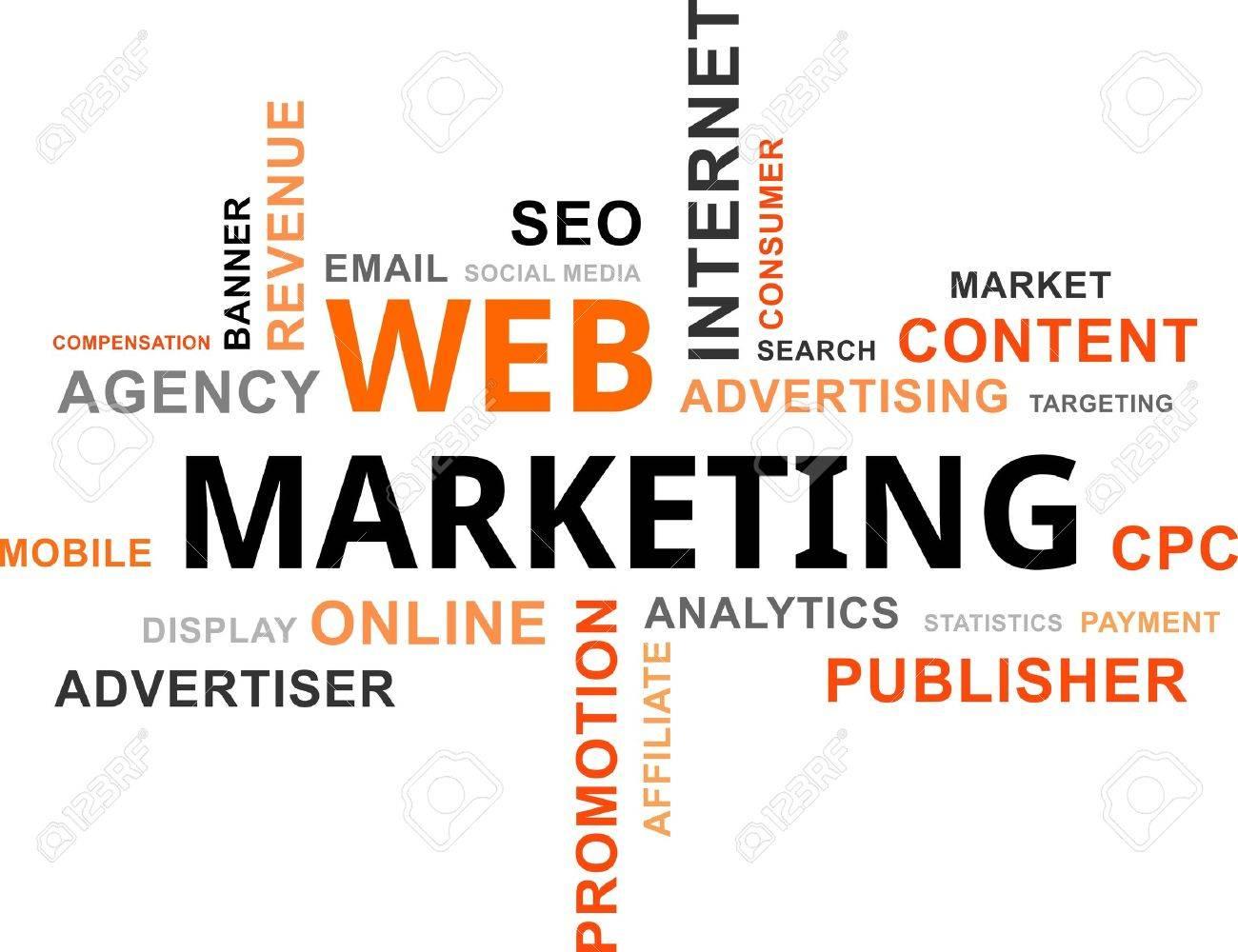 word cloud - web marketing Stock Vector - 20745274