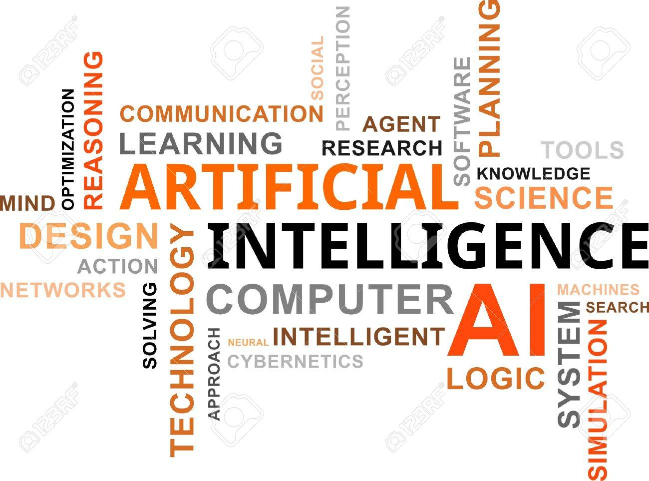 A word cloud of artificial intelligence related items Stock Vector - 21965461
