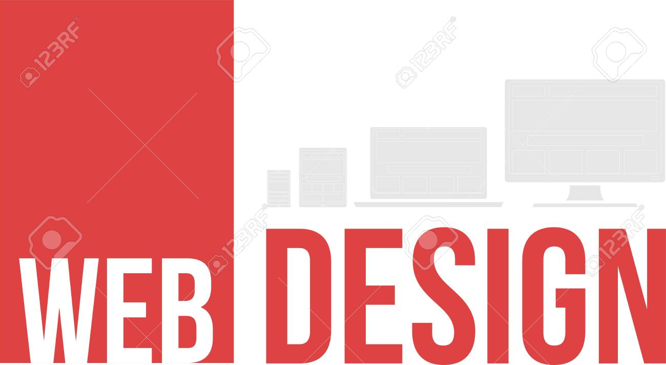 A word cloud of web design related items Stock Vector - 26068740