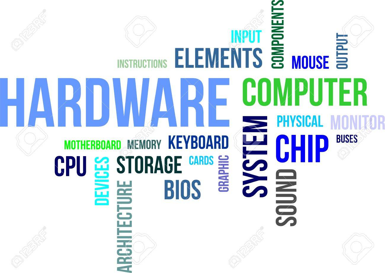 a word cloud of computer hardware related items royalty free rh 123rf com Acer Computer User Manual Specialized Sport Bike Computer Manual