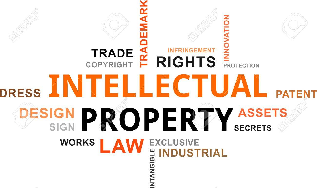 A Word Cloud Of Intellectual Property Related Items Royalty Free ...