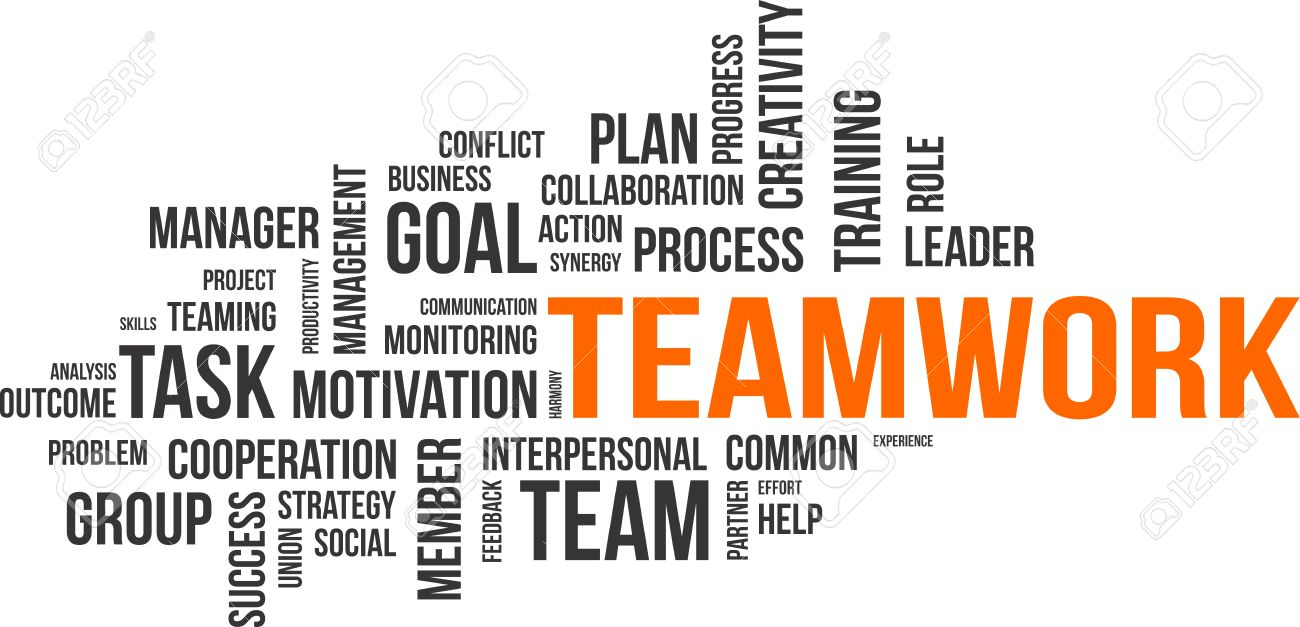 a word cloud of teamwork related items royalty cliparts a word cloud of teamwork related items stock vector 32818098