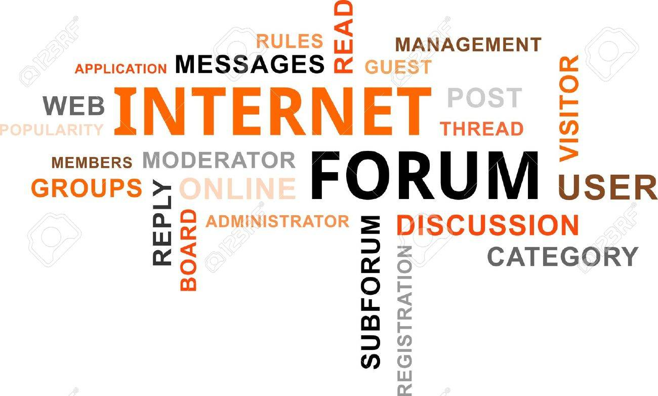 A Word Cloud Of Internet Forum Related Items Royalty Free Cliparts ...