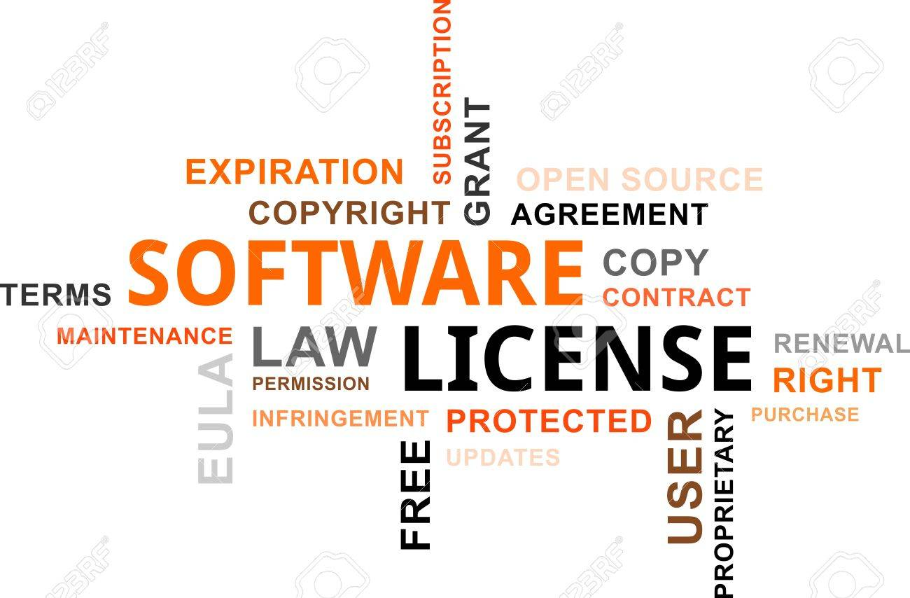 A word cloud of software license related items royalty free a word cloud of software license related items stock vector 37512523 platinumwayz