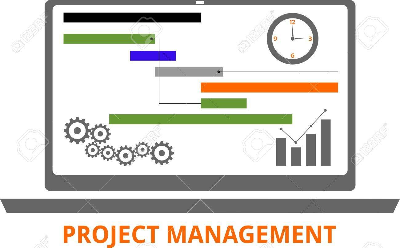 An illustration showing a project management concept - 40978839